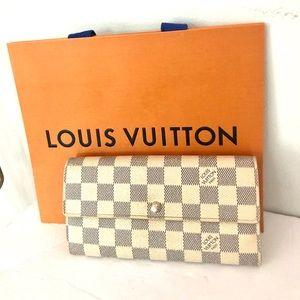 Authentic Louis Vuitton Damier  Azur Wallet-Pures